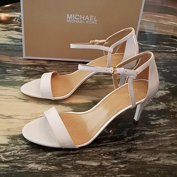ef33c156e5 MICHAEL Michael Kors Shoes | Simone Mid White Sandals | Poshmark